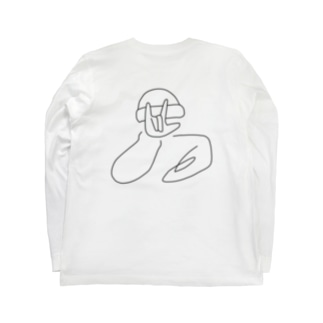 i ♡ u    黒 Long sleeve T-shirts