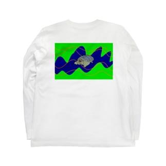サイケカメくん Long sleeve T-shirts
