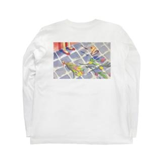 お風呂場チューリップ Long sleeve T-shirts