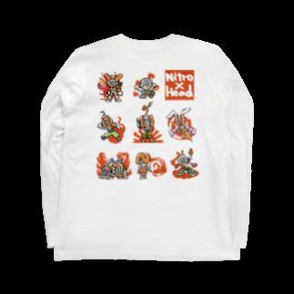 NITROHEAD_JPの[ニトロヘッドくん]シリーズ Long sleeve T-shirts