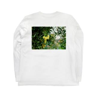 FLOWER-きいろ- Long sleeve T-shirts