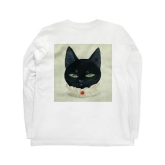 黒猫ロンT Long sleeve T-shirts