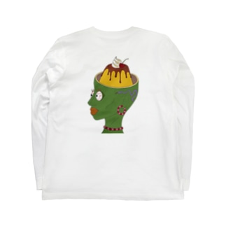 脳味噌プリンちゃん Long sleeve T-shirts