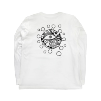 表情筋菌 Long sleeve T-shirts