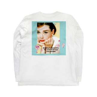 オードリーヘップバーン Long sleeve T-shirts