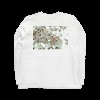 ソフトクリーム屋さんのぽわぽわさくら Long sleeve T-shirts