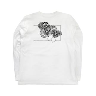 横向く女の子 Long sleeve T-shirts
