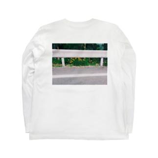 ガードレール/花 Long sleeve T-shirts