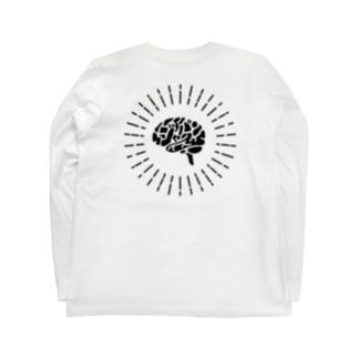 ジャパン脳 KURO BACK Long sleeve T-shirts