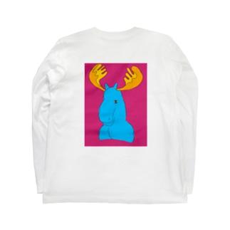 Santa inthetentのヘラジカ Long sleeve T-shirts
