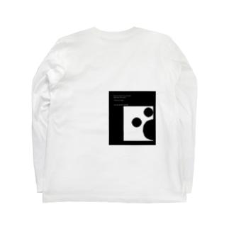軌跡(white) Long sleeve T-shirts