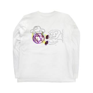 車を召喚するマントヒヒ Long sleeve T-shirts