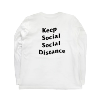GOOD LIKE A GODのKeep Social Social Distance  Long sleeve T-shirtsの裏面