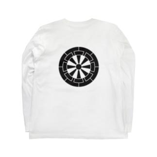 佐藤家家紋「源氏車」 Long sleeve T-shirts
