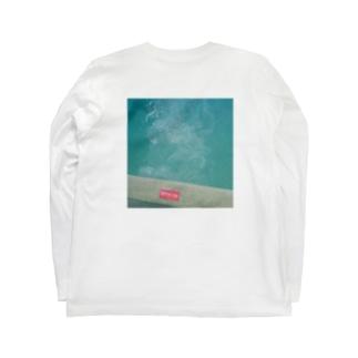 POOLであそびたい(ワンポイント・背面プリント) Long sleeve T-shirts