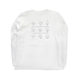 みんな違ってみんないい2(背中) Long sleeve T-shirts