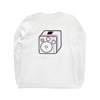 僕が着たいTシャツ屋さんの思い出のダイナモラジオ ピンク Long sleeve T-shirtsの裏面