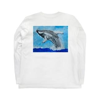 白鯨 白ロンT Long sleeve T-shirts