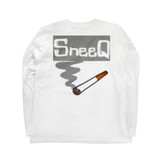 SneeQ【スネイク】たばこロゴTシャツ Long sleeve T-shirts