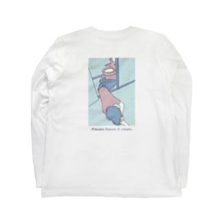 【トイレで寝るのは一石三鳥?】 Long sleeve T-shirts