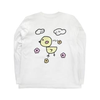 ぴよぴよぽっぽ Long sleeve T-shirts
