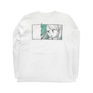 書き込め!さわちゃんバックプリント Long sleeve T-shirts