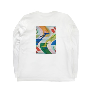 非対称:ゆがみ Long sleeve T-shirts