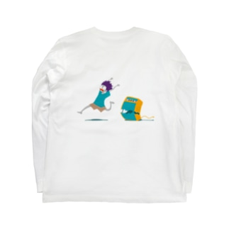 Help! 背面印刷 Long sleeve T-shirts