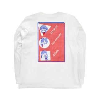 クレープ屋さんのバイト着 Long sleeve T-shirts