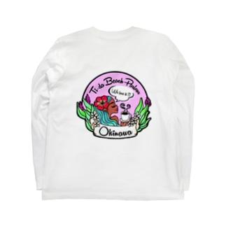 南の島沖縄のTi-da Beach/ティーダビーチ Long sleeve T-shirts