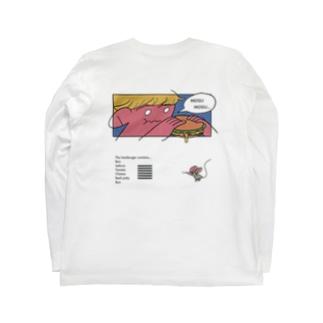 ハンバーガーもぐもぐ君 Long sleeve T-shirts