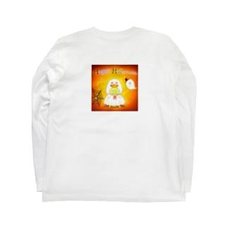 《ハロウィン07》*かめくんおばけ* Long sleeve T-shirts
