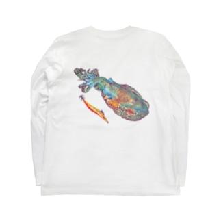 アオリイカとエギ Long sleeve T-shirts