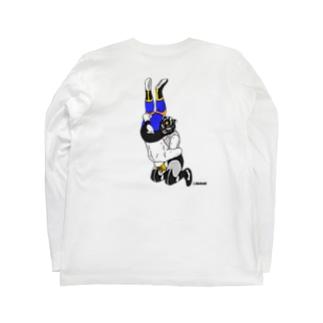 暗闇脳天落とし(バックプリント) Long sleeve T-shirts