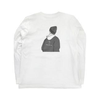 フード男 Long sleeve T-shirts