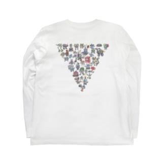 ロボ族(背面印刷) Long sleeve T-shirts