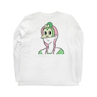 お面ワイルドモンキー Long sleeve T-shirts