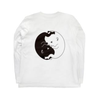 たいじの Yinくん & Yangちゃん Long sleeve T-shirts