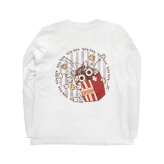 CT92 もじゃもじゃ★ぱっふんのポップコーン Long sleeve T-shirts