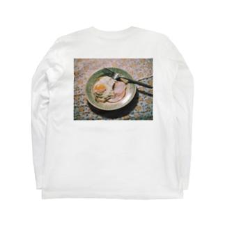 ハムエッグ(バックプリント) Long sleeve T-shirts