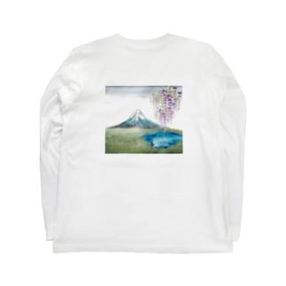 wamiの富士と藤 Long sleeve T-shirts