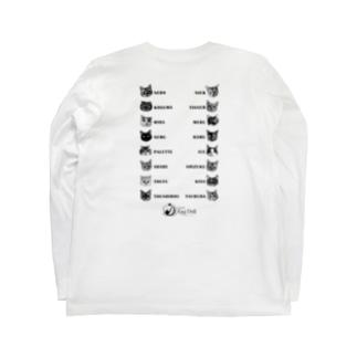 猫カフェラグドール猫スタッフ Long sleeve T-shirts