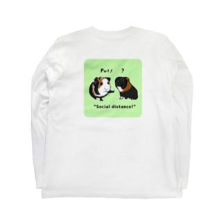背面ソーシャルディスタンス Long sleeve T-shirts