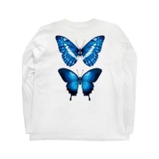 913WORKS WEB SHOP SUZURIの2種の蝶のロングスリーブ Long sleeve T-shirtsの裏面