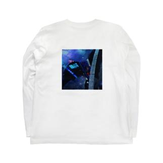 水溜りの中の街 Long sleeve T-shirts