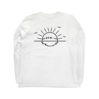 安全第一の日の出、IPPUKUの両面プリント Long sleeve T-shirts