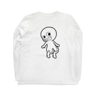 プリケツ君 Long sleeve T-shirts
