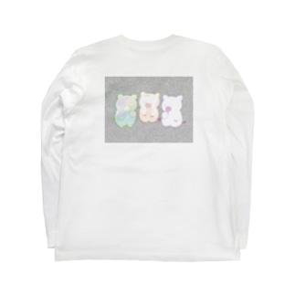 カラフルな三匹の子豚(ザラザラ) Long sleeve T-shirts