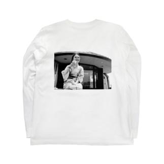 足湯と麦酒 Long sleeve T-shirts