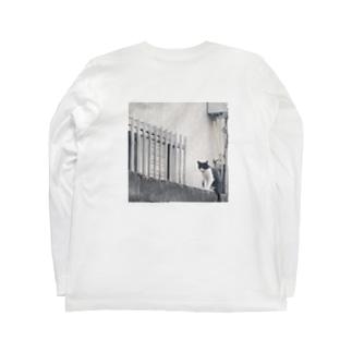 なにかたくらむネコ Long sleeve T-shirts